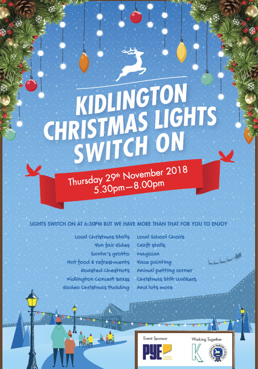 Poster for christmas light switch on. Click to download the pdf.